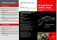 Detailliertes programm - Dainese Shop Dortmund