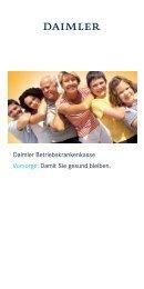 Daimler Betriebskrankenkasse Vorsorge: Damit Sie ... - Daimler BKK