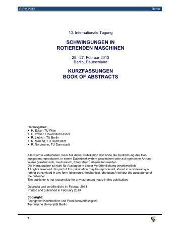 Kurzfassungen (PDF, 587,0 KB) - Konstruktion und ...
