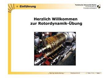 Herzlich Willkommen zur Rotordynamik-Übung - Konstruktion und ...