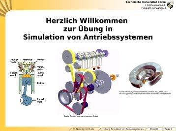 Simulation von Antriebssystemen - Konstruktion und ...