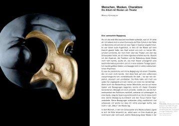 Menschen, Masken, Charaktere