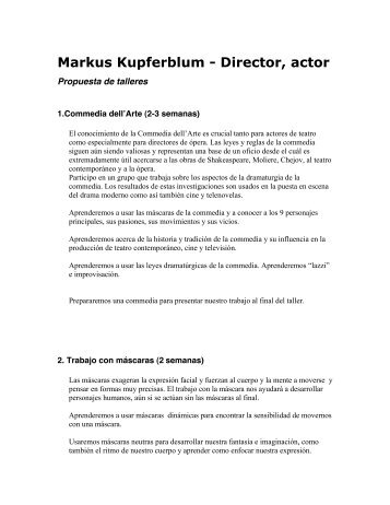 Markus Kupferblum - Director, actor
