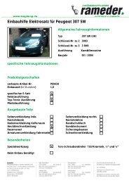 Einbauhilfe Elektrosatz für Peugeot 307 SW