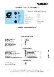 Einbauhilfe E-Satz für Toyota RAV4