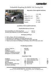Einbauhilfe Kupplung für BMW 316i Touring E46