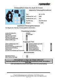Einbauhilfe E-Satz für Audi A4 Avant