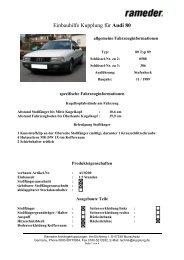 Einbauhilfe Kupplung für Audi 80