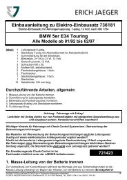 Einbauanleitung zu Elektro-Einbausatz 736181 BMW 5er E34 Touring