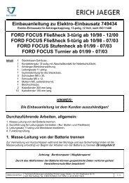 Einbauanleitung zu Elektro-Einbausatz 749434 - Rameder ...
