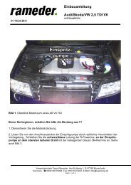 Einbauanleitung Audi/Skoda/VW 2,5 TDI V6