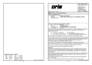 - 4 - - 1 - D Montage- und Betriebsanleitung