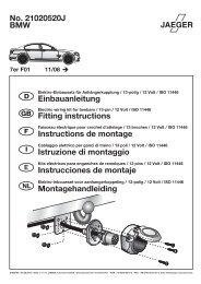 No. 21020520J BMW Einbauanleitung Fitting instructions ...