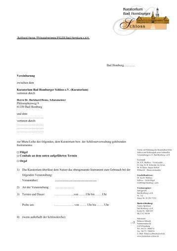 Vertrag über die Anmietung eines Musikinstruments - Kuratorium ...