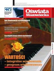 Oświata Mazowiecka nr 3 (kwiecień 2010) - Kuratorium Oświaty w ...