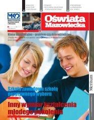 Oświata Mazowiecka nr 4 (sierpień 2010 r) - Kuratorium Oświaty w ...