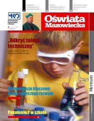 Oświata Mazowiecka nr 9 (październik 2011) - Kuratorium Oświaty ...