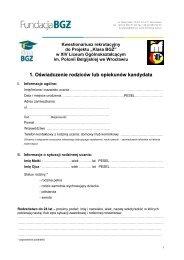 Kwestionariusz informacji o uczniu - Kuratorium Oświaty we Wrocławiu
