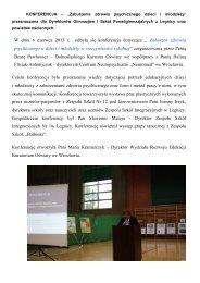 Informacja o konferencji - Kuratorium Oświaty we Wrocławiu