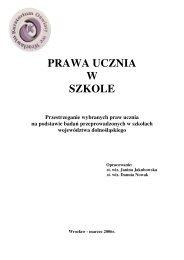PRAWA UCZNIA W SZKOLE - Kuratorium Oświaty we Wrocławiu