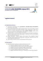 Regulamin konkursu - Kuratorium Oświaty we Wrocławiu