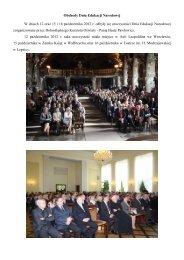 Uroczystości DEN - Kuratorium Oświaty we Wrocławiu