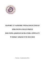 Raport z nadzoru pedagogicznego sprawowanego przez ...