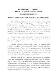 MIEJSCA PAMIĘCI NARODOWEJ PROGRAM WYCIECZEK ...