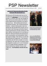 PSP Newsletter