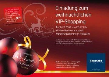 Einladung zum weihnachtlichen VIP-Shopping - Kurfuerstendamm.de