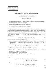 INEQUALITIES VIA CONVEX FUNCTIONS