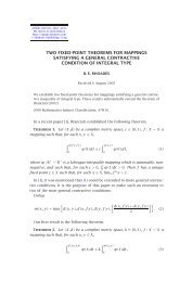 two fixed-point theorems for mappings satisfying a general ...