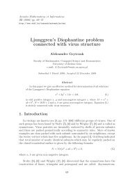 Ljunggren's Diophantine problem connected with virus structure