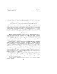 Correlation analysis: Exact permutation paradigm