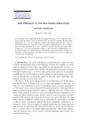 NEW APPROACH TO THE FRACTIONAL DERIVATIVES