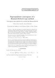 Superquadratic convergence of a Hummel-Seebeck type method