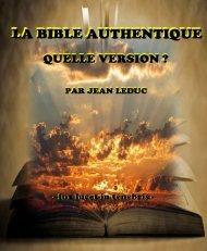 La Bible Authentique, quelle version ?