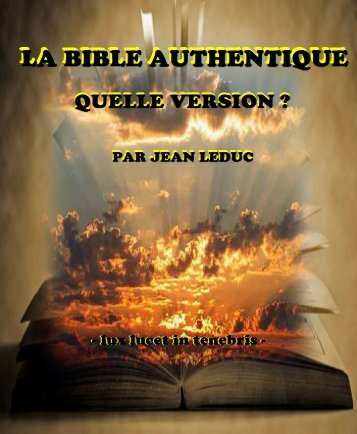 La Bible Authentique, quelle version ?