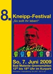 So, 7. Juni 2009 8.Kneipp-Festival - Kurpark Malente