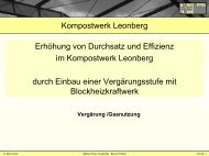 Kompostwerk Leonberg Erhöhung von Durchsatz und ... - KURS