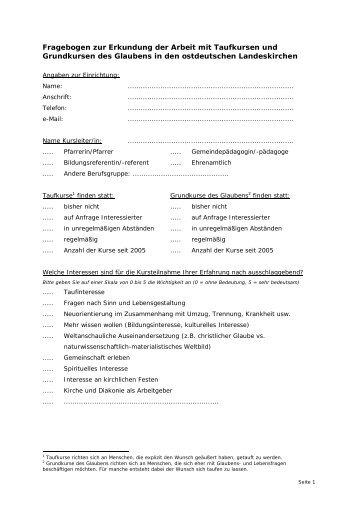 Fragebogen - Kurse-zum-glauben.org