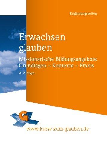 Grundlagen – Kontexte – Praxis - Kurse-zum-glauben.org