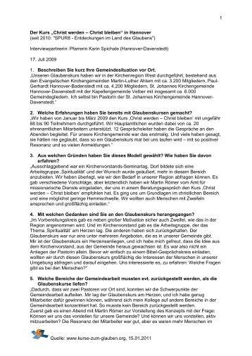 Interview - Kurse-zum-glauben.org