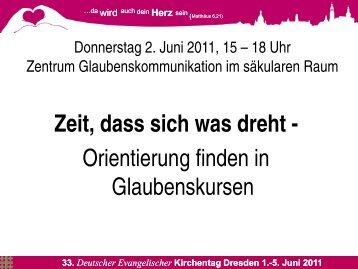 Präsentation zum Thema Glaubenskurse von Dr. Burghard Krause