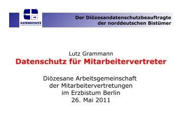 Der Diözesandatenschutzbeauftragte der norddeutschen Bistümer
