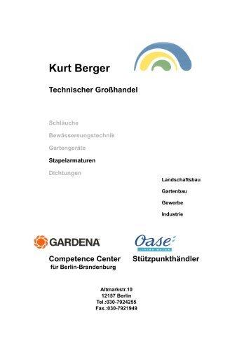 Stapelarmaturen - Kurt Berger