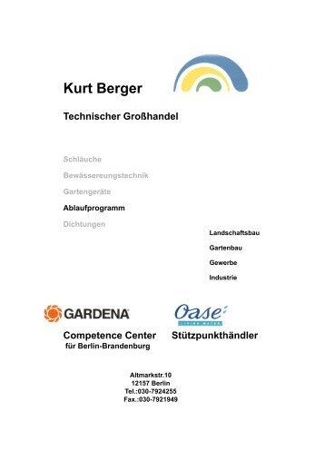 Ablaufprogramm - Kurt Berger