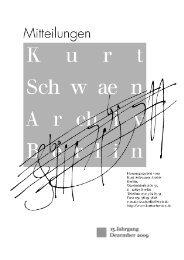 13. Jahrgang / Dezember 2009 im PDF-Format - Kurt Schwaen