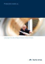 Imagebroschüre des kurtz ersa Konzerns - Kurtz Holding GmbH & Co.
