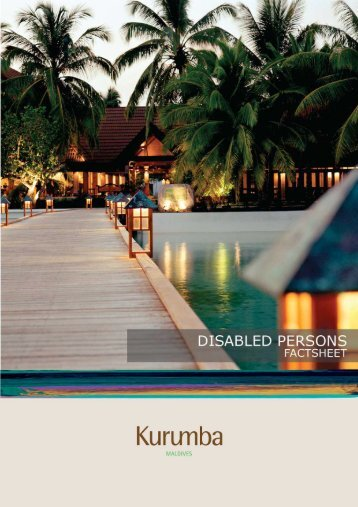 DISABLED PERSONS - Kurumba Maldives